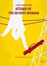 No276 My Attack of the 50 Foot Woman minimal movie poster by Chungkong
