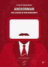 No278 My Anchorman Ron Burgundy minimal movie poster by Chungkong