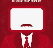 No278 My Anchorman Ron Burgundy minimal movie poster by Chungkong