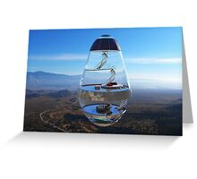 Surreal Glass House - The Water Droplet Greeting Card