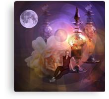 Full Moon Magic, mixed media art Canvas Print