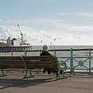 Person on Brighton Bench Seat by Sue Robinson
