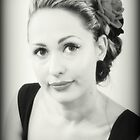 Jennifer - Portrait In Black and White by Evita
