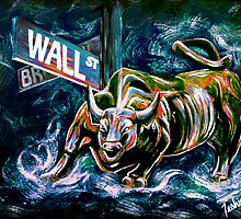 Bull Market Night by teshiaart