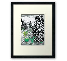 Cactus Winter Wonderland Framed Print