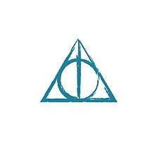 Blue Deathly Hallows Symbol by ilikefood