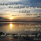 God's Word - Isaiah 55:11 by JLOPhotography