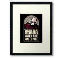 Shaka, When the Walls Fell Framed Print