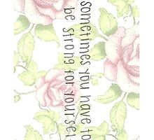 Quote in Flowers by ilikefood