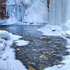 Johnston Canyon falls in a freeze by JamesA1