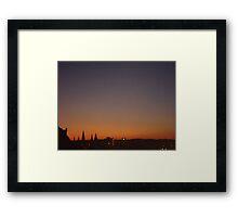 Stunning Edinburgh dusk landscape photo Framed Print