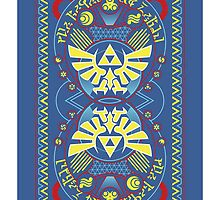 Card Back 2 - Hylian Court Legend of Zelda by sorenkalla