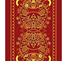 Card Back 3 - Hylian Court Legend of Zelda by sorenkalla