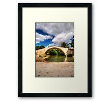 The Cretian Packhorse Bridge Framed Print