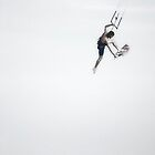 Walking on Air (Kite Surfer - Surfers Paradise)  by Lanny Edey