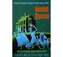 Haunted Mansion Ride Poster Photographic Print