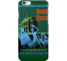 Haunted Mansion Ride Poster iPhone Case/Skin