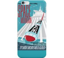Space Mountain Ride Poster iPhone Case/Skin
