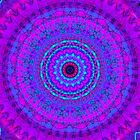 Purple Psyche Mandala by Vicki Field