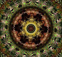 African Dusk mandala by Vicki Field