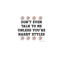 don't talk to me unless you're harry styles by payno093