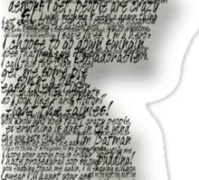 Dean Winchester Quotes Sticker