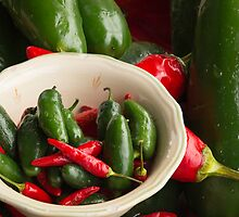 Fresh Hot Peppers by Thomas Young