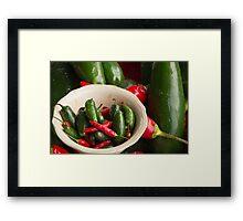 Fresh Hot Peppers Framed Print