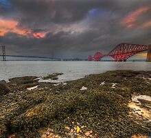 The Forth Bridges by English Landscape Prints