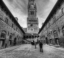 The Belfry of Bruge by English Landscape Prints