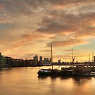 Sunrise in East London by Ursula Rodgers