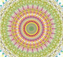 Bright Blessings Mandala  by Vicki Field