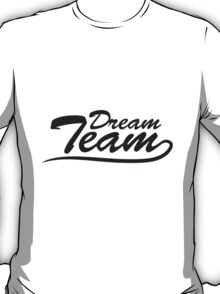 Text logo lettering couple dream team T-Shirt