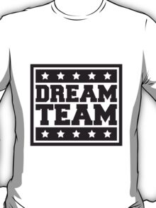 Text box star logo design some friends dream team T-Shirt