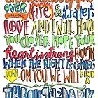 Through the Dark Lyrics by maddiedrawings