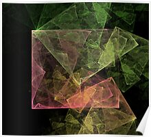Abstract Art Cubic Space Poster