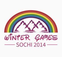 Sochi Winter Games Rainbow Pride Olympics T Shirt by xdurango