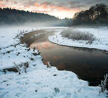 Winter river landscape by StefanFierros