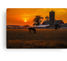 The Beauty of a Rural Sunset Canvas Print