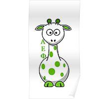 Alpha Epsilon Phi Giraffe Poster