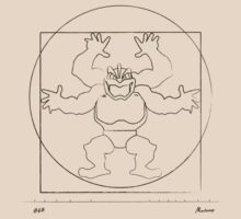 Da Vinci's Machamp (Contour) by FlyNebula