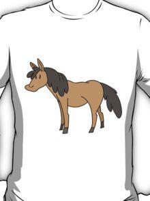 Brown Cartoon Horse T-Shirt