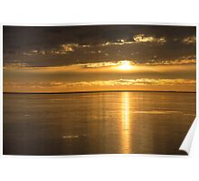 Sunset over the North Atlantic Poster