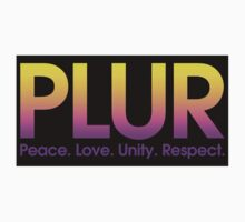 PLUR (Peace. Love. Unity. Respect.) Kids Clothes