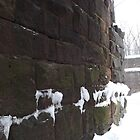 Harsimus Stem Embankment, Snow View, Former Pennsylvania Railroad Embankment, Jersey City, New Jersey by lenspiro
