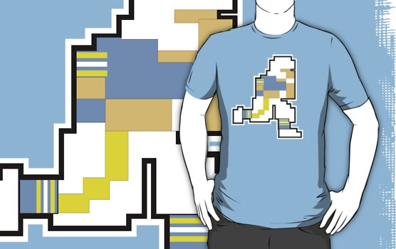 Nintendo Tecmo Bowl San Diego Chargers Powder Blue A by jackandcharlie
