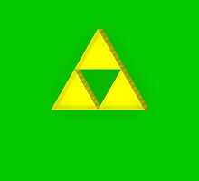 TLOZ - Triforce iPhone Case by Pixelcoderus