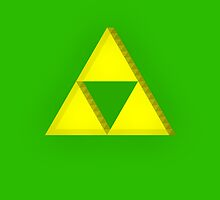 TLOZ - Triforce iPad Case by Pixelcoderus