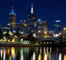 Melbourne at Night IV by photojunk
