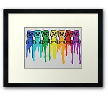 Rainbow Creep Framed Print